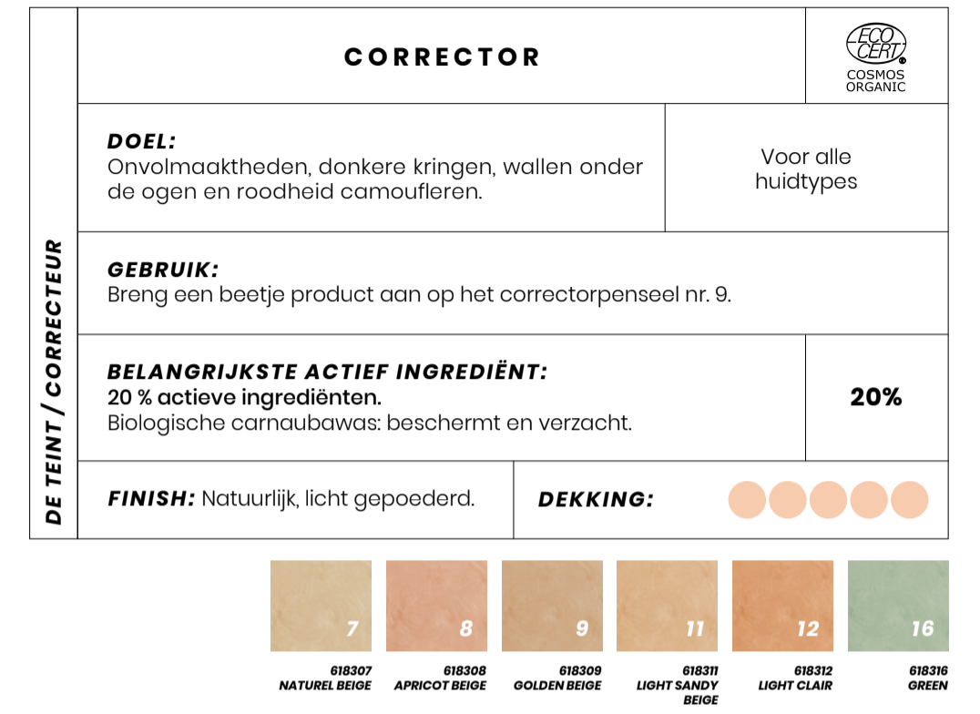 Bio Concealer corrector Couleur Caramel