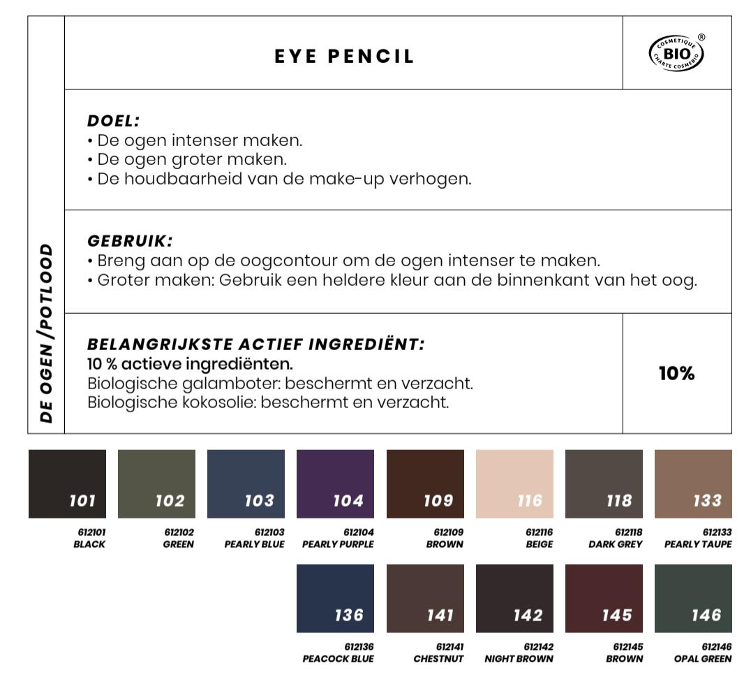 Bio oogpotlood Couleur Caramel