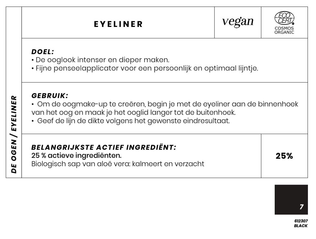 Vegan en Bio Eyeliner Couleur Caramel