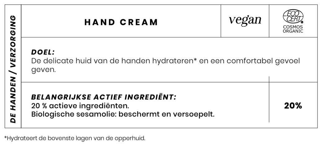Bio Handcreme Couleur Caramel