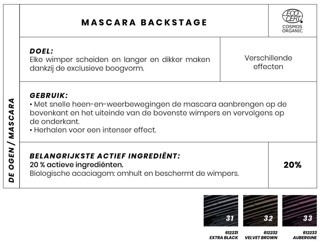 Bio Mascara Backstage Couleur Caramel