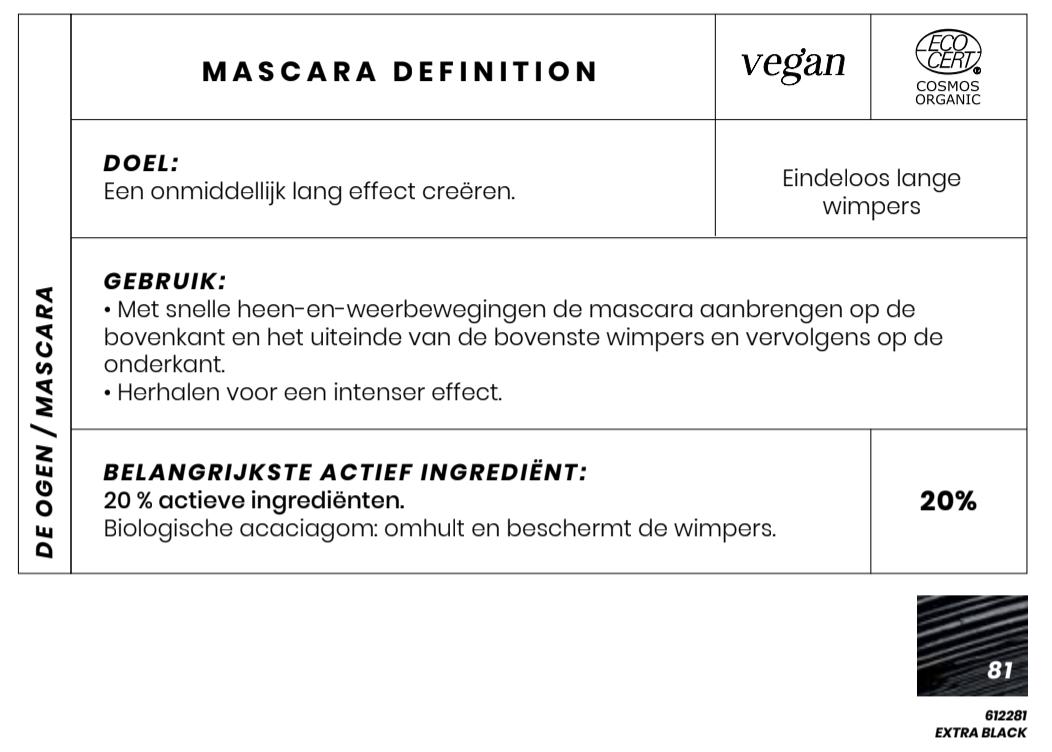Vegan Bio Masacara Definition Couleur Caramel