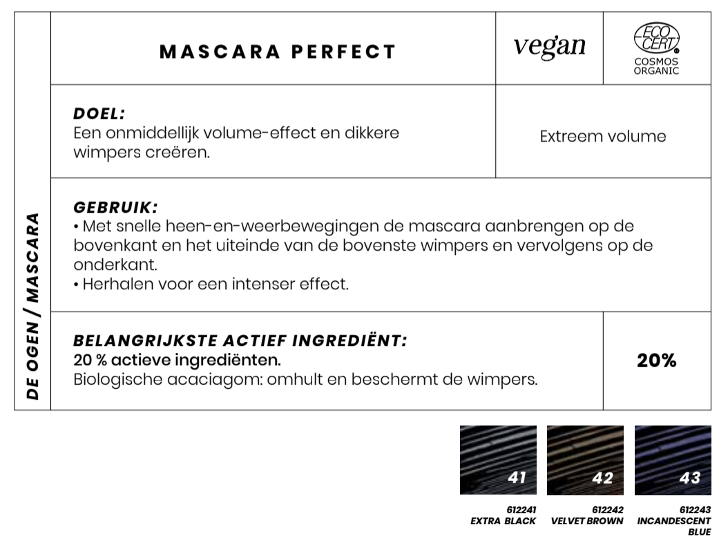 Vegan Bio Masacara Perfect Couleur Caramel