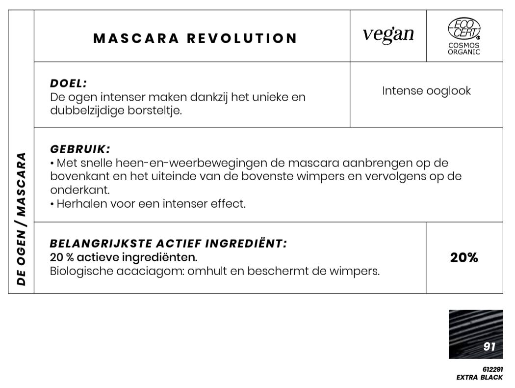 Bio en Vegan Mascara revolution Couleur Caramel