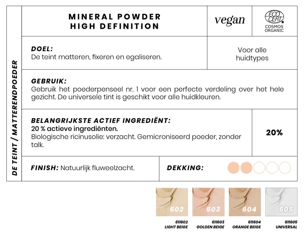 Bio Mineral compact powder Couleur Caramel