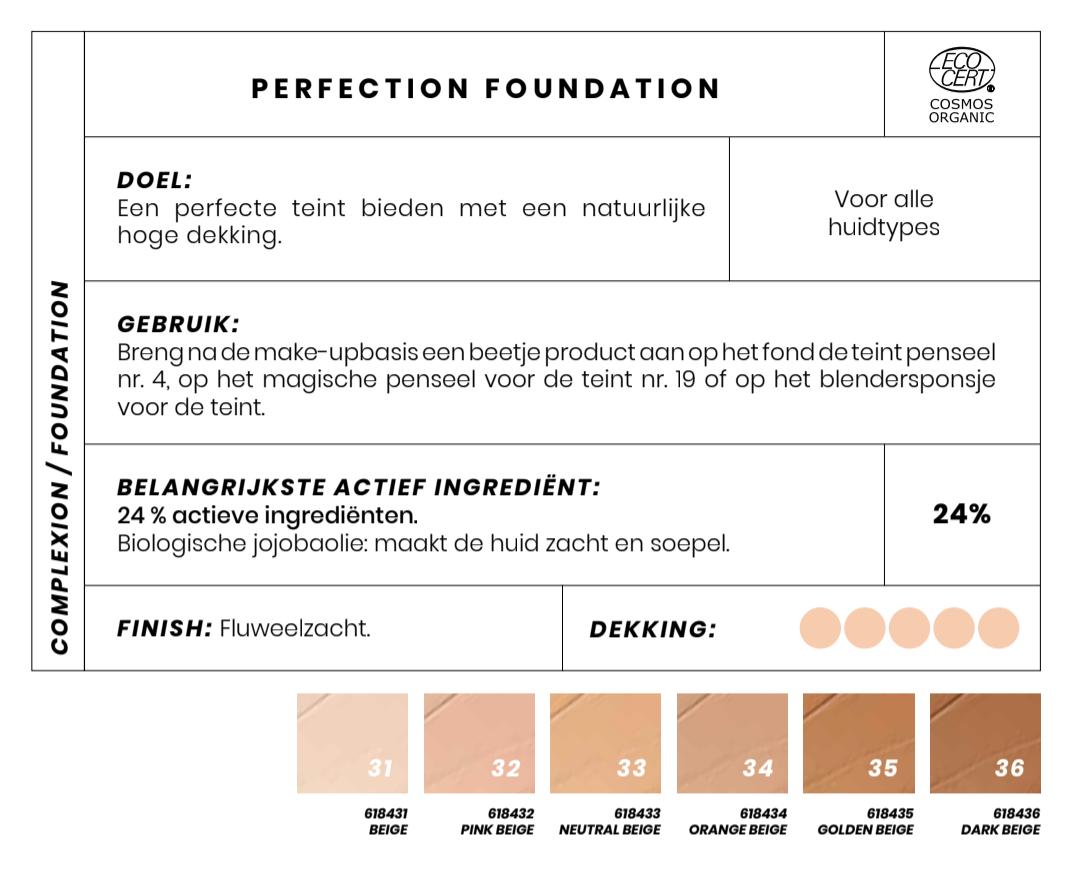 Perfect Biologische Foundation Couleur Caramel