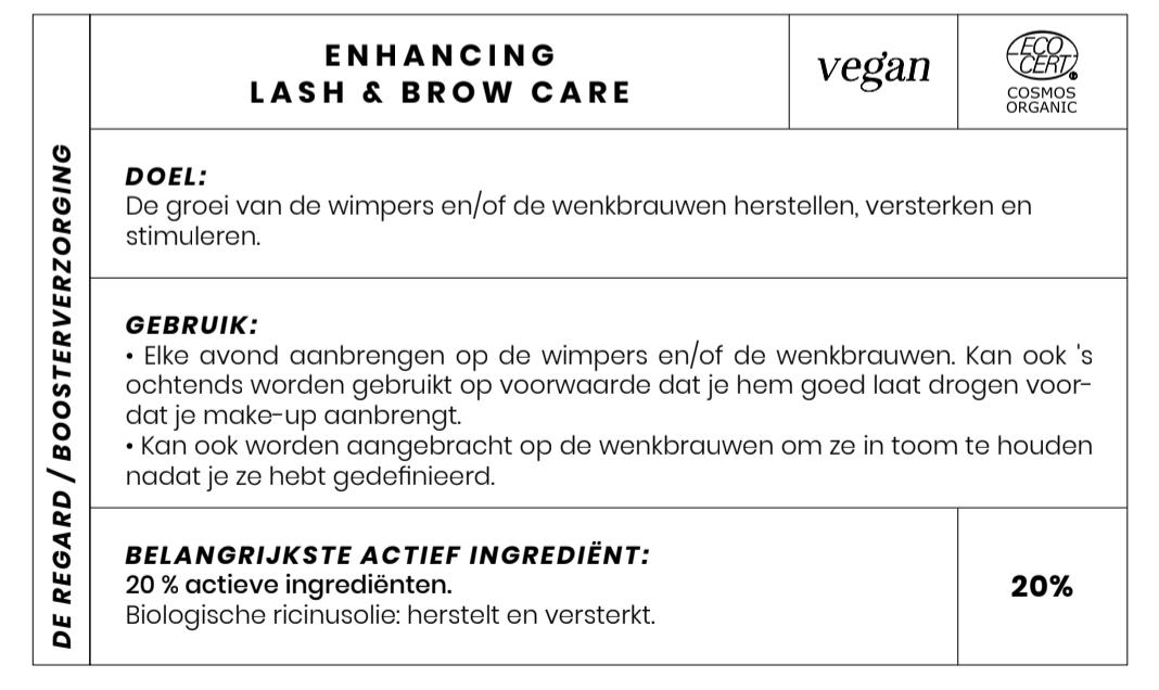 Vegan en Bio Wimpergroei verzorging Couleur Caramel