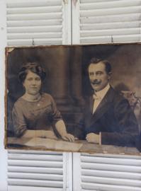Oude foto op canvas