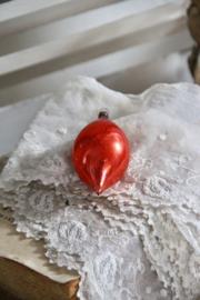 Kerstbal druppel rood