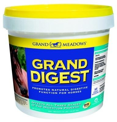 Grand Digest paard, voorkomt en verhelpt spijsverteringsklachten. 2.27kg  Bestel bij Pardoes-Aurora met code 844