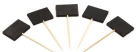 Prikker met zwart krijtbordje