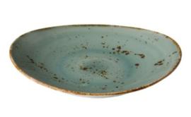 Ovaal bord aqua blauw L (3 stuks)