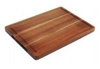 Rechthoekige acacia plank met inkeping