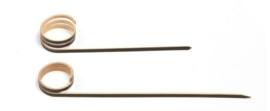 Prikker bamboe met krul zwart