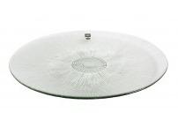 Glazen borden met reliëf