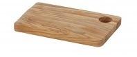 Houten plank met gat
