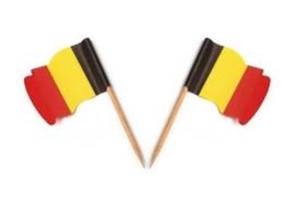 Vlagprikker België wapperend (20 doosjes)