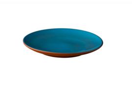 Plat bord blauw Stoneheart (12 stuks)