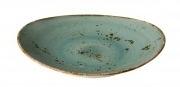 Ovale borden Aqua blauw S (6 stuks)