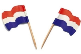 Vlagprikker Nederland wapperend (20 doosjes)