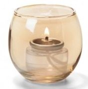 Theelicht luchtbel glas