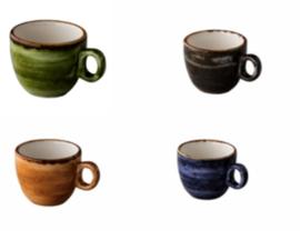 Jersey espresso kop stapelbaar (6 stuks)