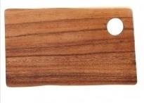 Rechthoekige plank met gat