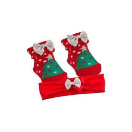 Kerstsokjes en haarbandje *kerstboom*