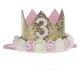 Verjaardagskroontje  *3 jaar*