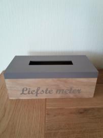 Tissu box *Liefste meter*
