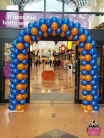 Boog- Blauw oranje 6 meter