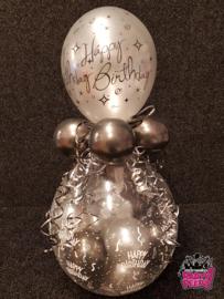 Verjaardag- Stuffer HB 60 zilver zwart