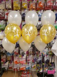 Helium- Tafeldeco 3 wit goud 50