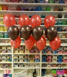 Helium- Tafeldeco 3 rood zwart