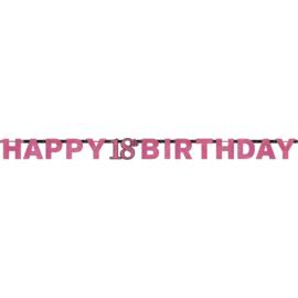 Pink 18 letterslinger