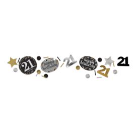 Gold 21 confetti
