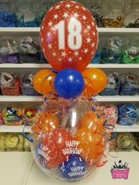 Verjaardag- Stuffer HB 18 rood blauw oranje