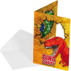 Dino- Uitnodigingen