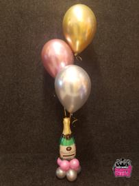 Helium trosjes aan gewicht