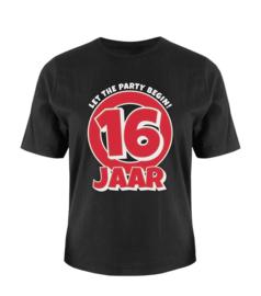 T-shirt- 16 jaar