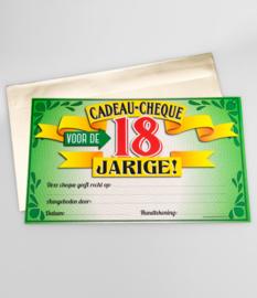 Cheque- 18 jaar