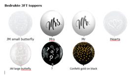 Topballonnen bedrukt 3FT