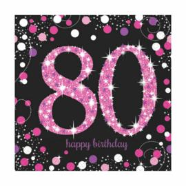 Pink 80 servetten