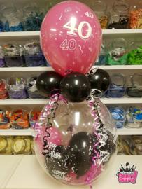Verjaardag- Stuffer 40 zwart fuchsia