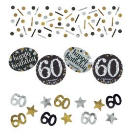 Gold 60 confetti