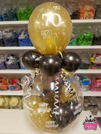 Verjaardag- Stuffer 70 zwart goud