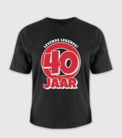 T-shirt- 40 jaar
