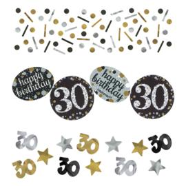 Gold 30 confetti