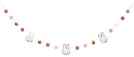 Nijntje roze- Deco slinger