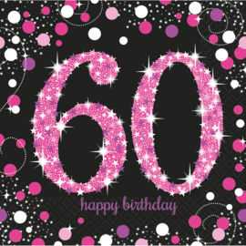 Pink 60 servetten